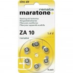 Pila de botón de la célula ZA 10 Zinc Renata de audífonos 18pcs 100 mAh