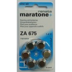 Cell battery for hearing aids Zinc battery ZA675 AIR RENATA 18 pcs
