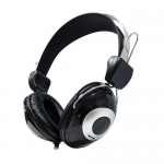 Stereo headphones with 5 meter cable and volume control AV0827E