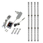 Kit 4 RGB LED strips with remote control - Alcapower 930320
