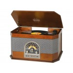 Retro Bluetooth stereo turntable with Trevi TT BT 1040 Wood color