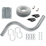 Metronic 450371 - FX 1, antenna mount: S + 2 F sockets arm, 1 Scart socket, 20 m cable