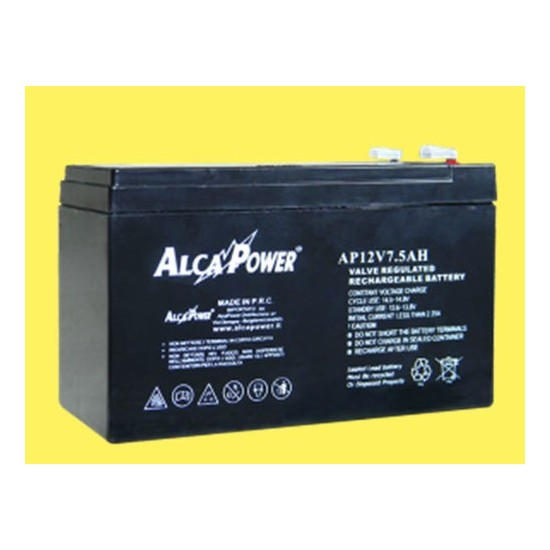Rechargeable battery size Hermetic 12V 7 Ah - (mm) 151x65x94 (h) 204034