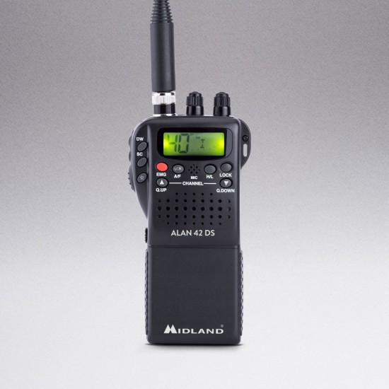 Transceptor Transmisor Midland CB Portable Multiband Alan 42 DS - C1267