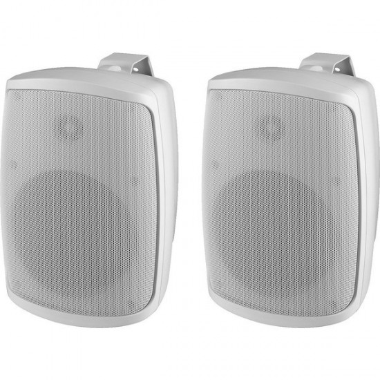 PAIR OF 2-WAY ACOUSTIC CASES 30W IP65 white - MONACOR WALL-04 / WS