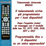 Control remoto universal para TV, TDT, VCR, DVD, SAT o SKY BRAVO 3 en 1 hasta tres dispositivos simultáneamente