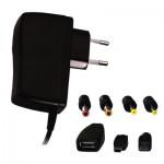 Fuente de alimentación conmutada 5V 2.5A 6 enchufe / USB / Mini USB - ALCAPOWER 951016