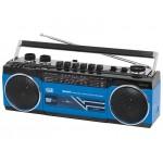 KASSETTEN-FUNK-RECORDER MIT BLUETOOTH TREVI RR 501 BT BLUE