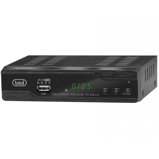 DIGITAL TERRESTRIAL DECODER HD DVBT-T2 HEVC CODEC H.265 TREVI HE 3388 TT