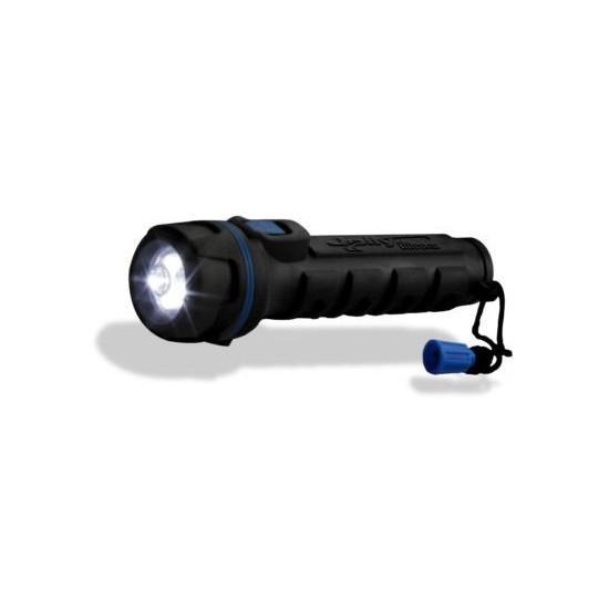 Torcia con corpo in gomma antiurto con luce alta luminosità ELCART 28/18920