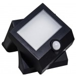 Lampada ad energia solare IP54, Night Light 8lm, Main Light 200lm, BAT. 3,7V 1,5AH LI-ION, nera - life 39.9PLS102B