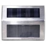 SIGNAGE PASS to solar energy, IP44, 3 LEDs 36lm, Batt.600mAh, Autonomy at full charge 10 hours, Steel - LIFE 39.9PLS113S