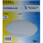 LED CEILING LIGHT PLF346-18 (18WATT 1170LUMEN) TONALITY OF THE SELECTABLE LIGHT (DIAMETER 300 MM) - COREL