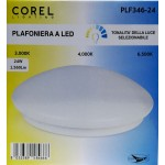 LED CEILING LIGHT PLF346-24 (24WATT 1560LUMEN) TONALITY OF THE SELECTABLE LIGHT (DIAMETER 380 MM) - COREL