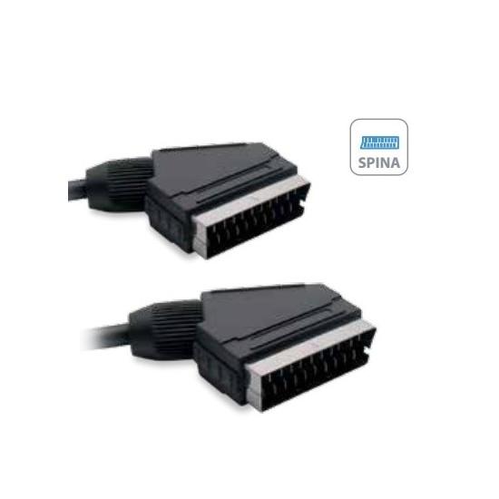 cable SCART de audio y vídeo de 21 clavijas de 3 m. - Metronic 475043