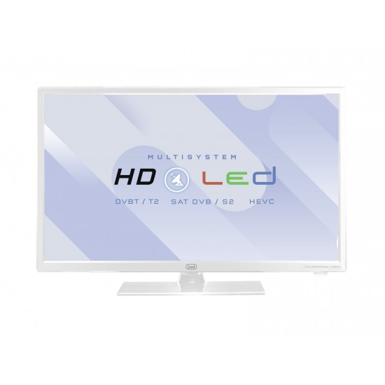 24 'LED TV SATELLITE HEVC DVB-S2 TREVI LTV 2402 WHITE SAT