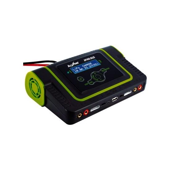 Charger for Ni-Cd, Ni-MH, PB, Li-ion, Lipo, Life - AP400-DUO Battery Pack - AlcaPower 701052