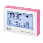 TREVI ME 3103 WEATHER MINI STATION WITH FUCHSIA CLOCK