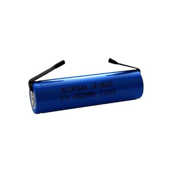 18650 Li-Ion Accumulator 3.7V 2600mAh Solder Terminals - Alcapower 202919