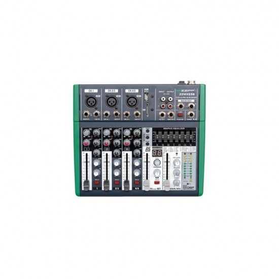 COMPACT MIXER 5 CHANNELS WITH DSP AND BLUETOOTH - MONACOR ZZMXE5B
