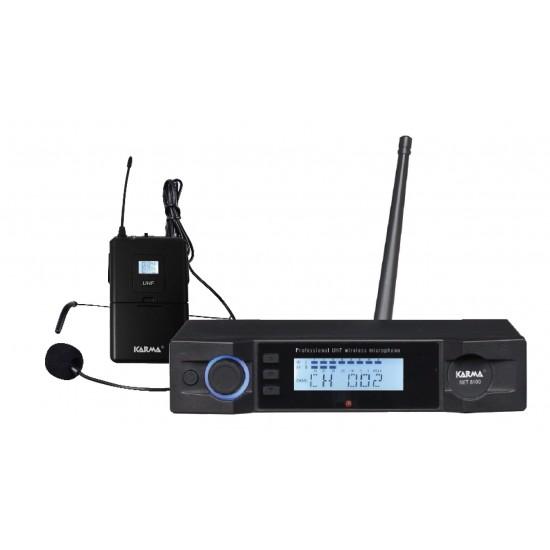RADIOMICROPHONE LAVALIER UHF - KARMA SET8100LAV