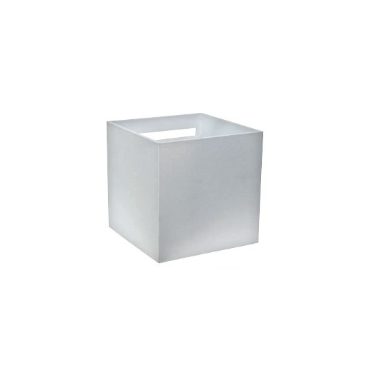APLICACIÓN LED cuadrado, IP54, 220Vac, 7W, LUZ 3000K, 500LM, RA80, 100x100mm, aluminio blanco - 39.9PL3027WC