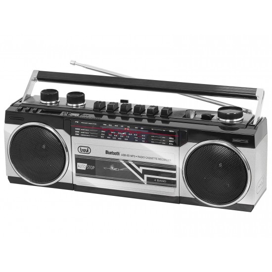 CASSETTE RADIO RECORDER WITH BLUETOOTH TREVI RR 501 BT GRAY