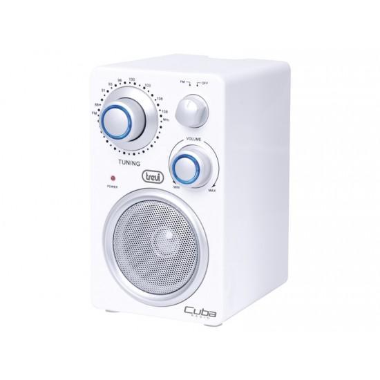 PORTABLE FM RADIO CUBA TREVI RA 742 T WHITE