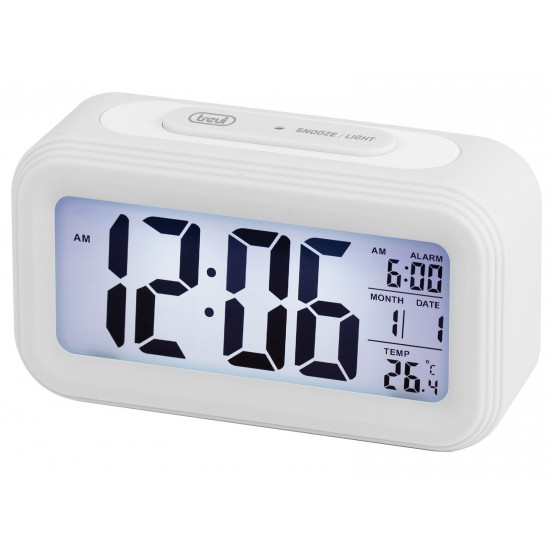 DIGITAL THERMOMETER CLOCK WITH ALARM TREVI SLD 3068 S WHITE