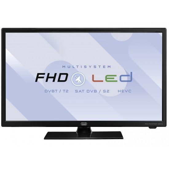TV 22 'LED SATELLITE HEVC DVB-T2 10 BIT DVB-S2 CIGAR CABLE 12V TREVI LTV 2202 SAT