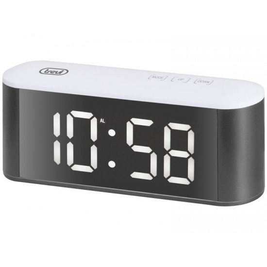 DIGITAL ALARM CLOCK WITH THERMOMETER AND LARGE DISPLAY TREVI EC 883 BL WHITE