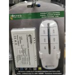 4-WAY RADIO-CONTROLLED ELECTRONIC SWITCH with remote control - MAX LOAD 4 x 300 - 1000W - SICE 4799010
