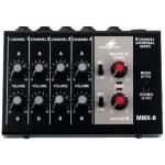 Universal audio mixer 8 small mono channels Monacor MMX-8
