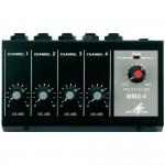 Mixer microfono in miniatura 4 canali mono Monacor MMX-4