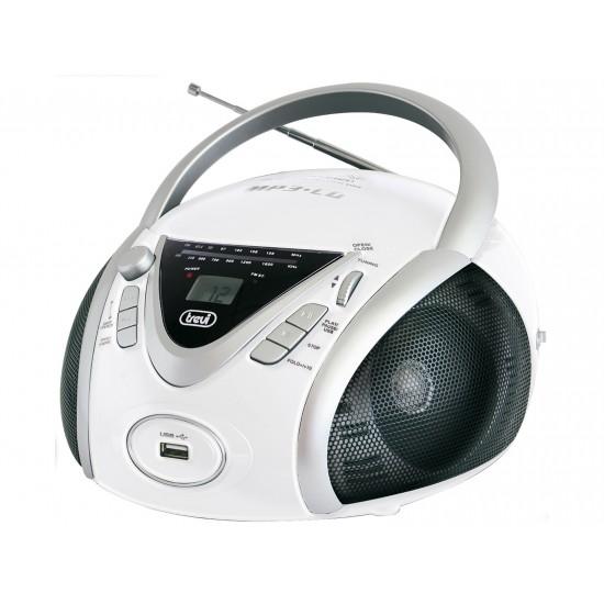 BOOMBOX ESTÉREO PORTÁTIL CD MP3 TREVI CMP 542 USB BLANCO