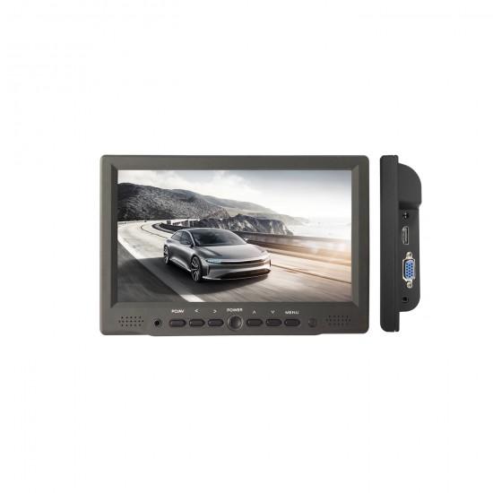 7 'Color LCD Monitor - (HDMI, VGA, COMPOSITE VIDEO, AUDIO) (220 V - 12 / 24V) - ALCAPOWER 970025