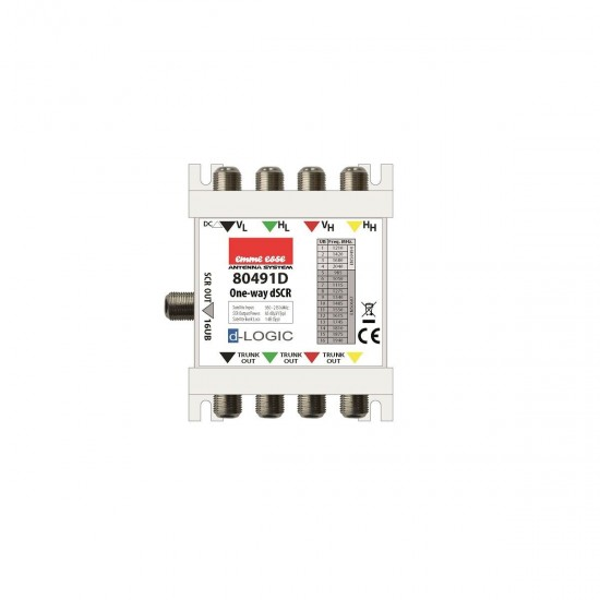 Centralino Multiswitch con tecnologia dCSS - 4 IN - 4 OUT - 1 DER. - EMME ESSE 80491D