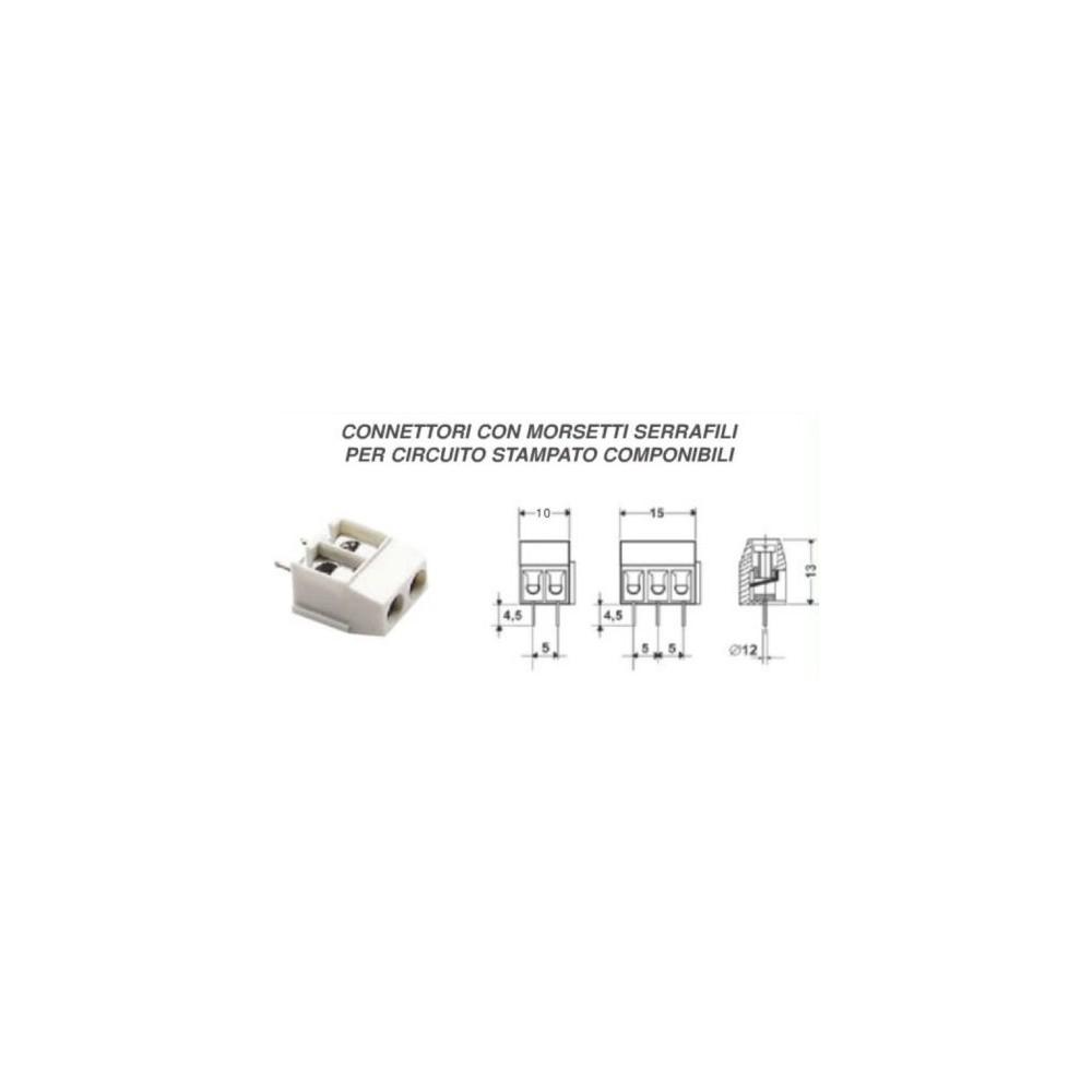 Circuito X : Connettore adattatore con morsetti serrafili x circuito stampato 3