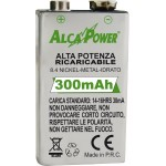 Rechargeable battery NI-MH 9v 300mAh Alcapower Framework 202003