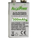 Rechargeable battery NI-MH 9v 300mAh Alcapower Framework 202003